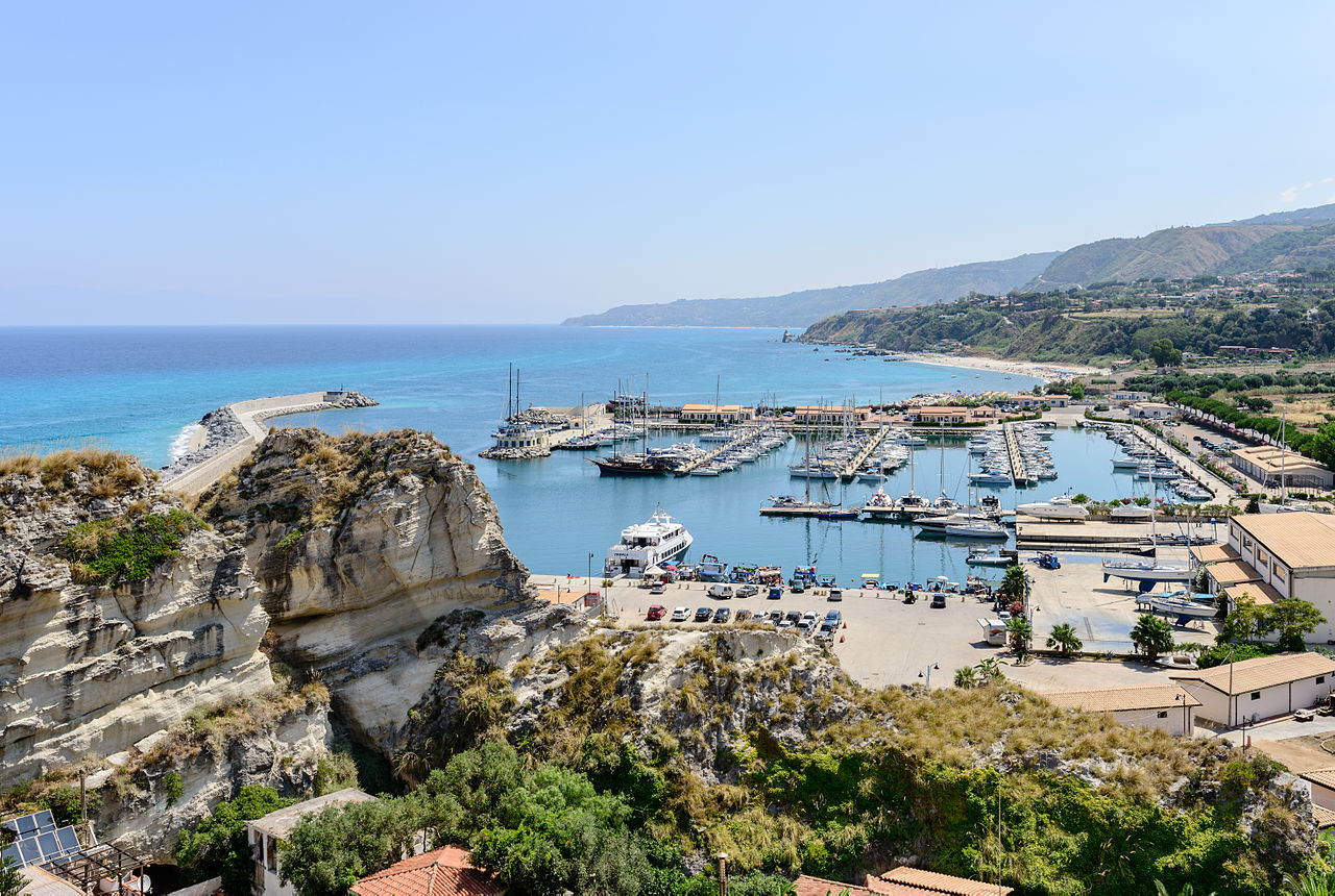 Tropea Marina, from where boat trips depart