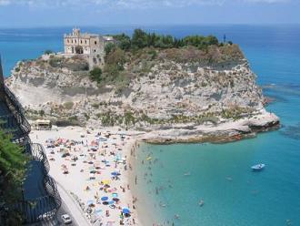 tropea beach + church 3 small 2