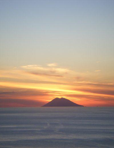 Witness beautiful sunsets over Stromboli