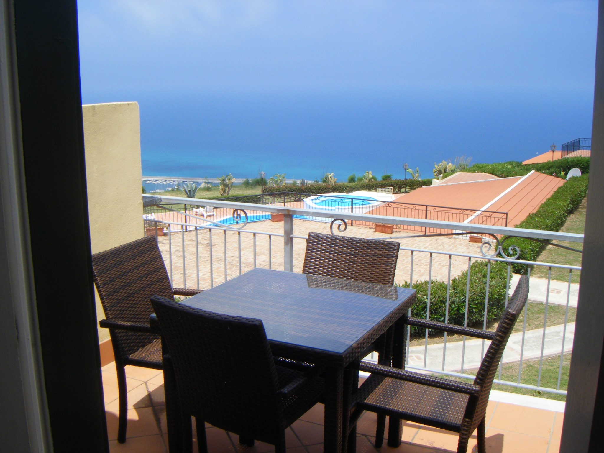 Outside table and chairs with stunning views