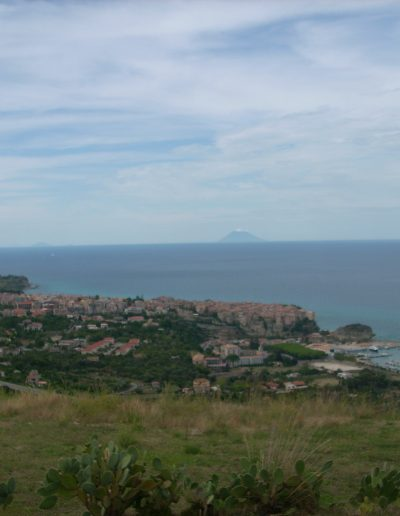 View over Tropea and the harbor